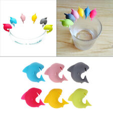 Glass Marker Wine Glasses Recognizer Silicone Shark Party Dedicated Tag
