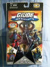 New listing G.I.Joe Resolute Comic 2 Pack Destro & Shockblast Sealed Moc (No Logo Variant)