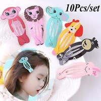 10Pcs/Set Women Animal/Mermaid/ Hairpins Girls Barrettes Hair Clips BB Hair Clip