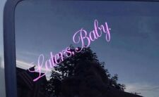 Fifty Shades of Grey Laters Baby Decal Pink Letters