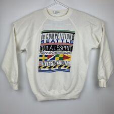 VTG 80's Qui A L'esprit Course De Transatlantique International Sweatshirt XL