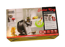 BEEM Sorbet-King, Eismaschine, elektrische Reibe + Raspel, Silber/Schwarz - NEU