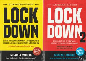 LOCKDOWN Teil 1+2 - NWO 2022 - Michael Morris 2 x BUCH - NEU