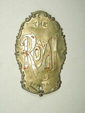 Vintage The Royal Special Bicycle Cycle Head Badge Emblem #2