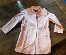 Auth BURBERRY Women's Trench Coat Pale Pink Size US 8-10 100% COTTON