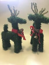 "Christmas Reindeer Tree Bells Home Holidays Decorations Ornaments Size 11""x5"""