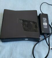 Microsoft Xbox 360 S Slim Console + Microsoft Power Supply UNTESTED SOLD AS IS