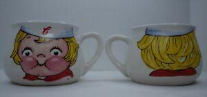 Set of 2 Campbell's kids Soup Company Collectible Mug Cup Tea Bowl 1998 Vintage