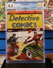 Detective Comics #16 CGC 8.5  2nd Highest in Census!  1st/2nd Superman ad!