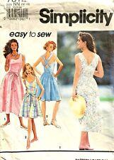 Simplicity Misses' Back-Wrap Dress Pattern 7812 Size 10-16 UNCUT