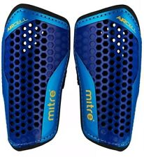 Mitre Aircell Carbon Slip Football Shin Pads - BlueCyanYellow, Small