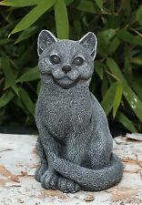 Steinfigur Katze Mieze Tierfigur Skulptur Gartenfigur Dekofigur Geschenkidee