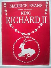 KING RICHARD II Souvenir Program MAURICE EVANS / CARMEN MATHEWS NYC 1940