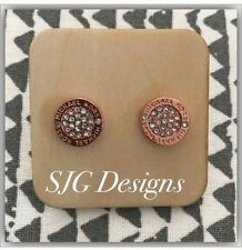 Earrings Round ROSEGOLD Plated crystal Inspired