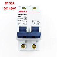 Electric 50A Miniature 2P DC 400V Circuit Breaker Solar Energy Air Switch MCB SJ