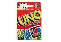 NEW Mattel UNO - Family Card Game - Latest Version With Customisable Wild Cards