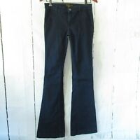 The Seafarer Jeans 27 Dark Denim Trouser Wide Leg Flare Long Tall Mid Rise