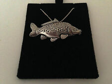 F36 Mirror Carp on a 925 sterling silver Necklace Handmade 16 inch chain