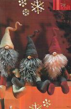ALAN DART  YULETIDE GNOMES -  TOY KNITTING PATTERN