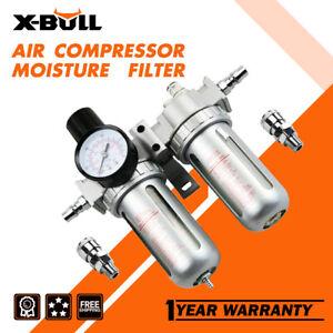 X-BULL Air Compressor Oil Moisture Water Trap Filter Regulator Separator