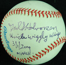 "Gail Halvorsen Single-Signed OAL Baseball ""Uncle Wiggly Wings"" (PSA/DNA)"