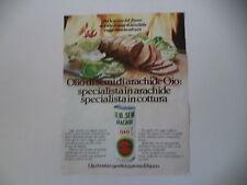 advertising Pubblicità 1980 OLIO OIO
