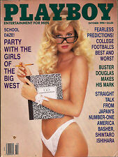 PLAYBOY OCTOBER 1990-B - BRITTANY YORK - GIRLS OF THE BIG WEST