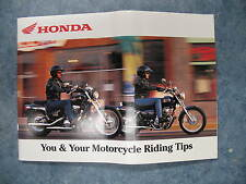 USED HONDA YOU AND YOUR MOTORCYCLE RIDING TIPS GUIDE BOOK PAMPHLET