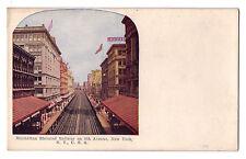 New York City postcard Manhattan Elevated Railway on 6th Ave