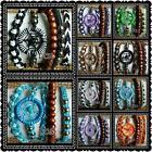 stack of 5 adjustable cotton friendship surf hippie dream catcher bracelets