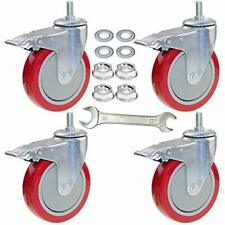 Dicasal 5 Inch Heavy Duty Stem Casters 360 Degree Swivel Thread Wheels With M