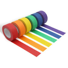 6 Color Rolls Rainbow Masking Tape Painters Tape for Arts & Crafts Paper Tape Us
