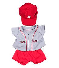 "Bear Sox Baseball w/Cap Teddy Bear Clothes Fits Most 14-18"" Build-A-Bear n More"