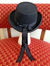Black 100% Wool Vintage Hats for Men  b967722d9809