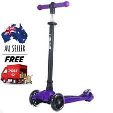 i-Glide Boardwalk Bobber V2.0 3-Wheel Kids Kick Scooter   Purple   Ships FREE
