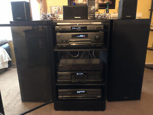 Vintage Technics Surround Sound Stereo Rack System w/Remote,Cables,U.S.A.
