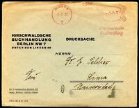 GERMANY TO PERU, MACHINE Cancel on Official Cover 1931