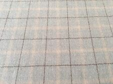 Holland & Sherry Wool Plaid Upholstery Fabric- Gallant Aquamarine 1.7 yd DE12785