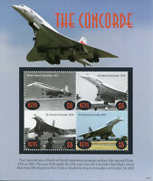 Nevis 2018 MNH Concorde Air France 4v M/S Aviation Stamps