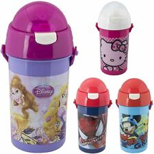 Kids Push Top Kids Water Bottle 500ml School Lunch Sports Picnic Day Trips Mickey Mouse Ziz002282