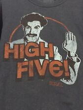 Vintage BORAT High Five 2007 Funny Movie T-Shirt Size M Sasha Baron Cohen