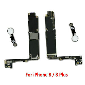 For iPhone 8 8P 8 Plus 256GB Unlocked Motherboard Main Logic Board w/ Touch ID