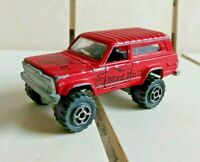 Majorette Jeep Cherokee 4 X 4 Red Mad Bull Die Cast 1:64 Made in France
