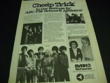 Cheap Trick Blondie The Cars James Young of Styx rare 1980 Promo Poster Ad