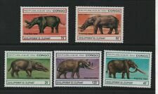 Thematic Stamps Animals - CONGO 1994 ELEPHANTS THRO AGES 5v mint