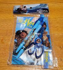 6pc Disney Moana Stationary Set Party Favor School Supplies Blue