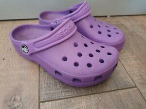 CROCS Slip On Shoes-Lilac Size W4 M2