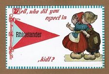 Rhinelander,WI on printed pennant Dutch Kids humor  Who did you expect