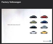 "Factory VW ""What Color Do You Dream In ""Drivers Wanted""Own It Car Poster"