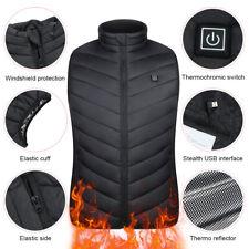 Unisex Electric Battery Heating USB Sleeveless Heated Vest Winter Outdoor Jacket